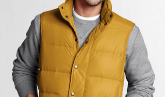 Lands' End Additional 30% Off Sitewide: Men's Down Vest Only $10.49 + Shipping (Reg. $60!)