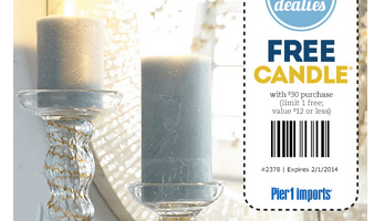 Pier 1 Imports: FREE Candle with $30+ Purchase ($12 Value!)