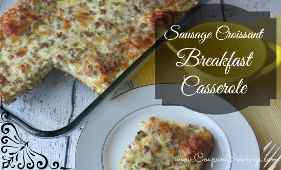sausage-croissant-breakfast-casserole recipe