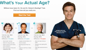 FREE Dr. Oz and Dr. Roizen's RealAge Test (Find Out How Old You Really Are!)