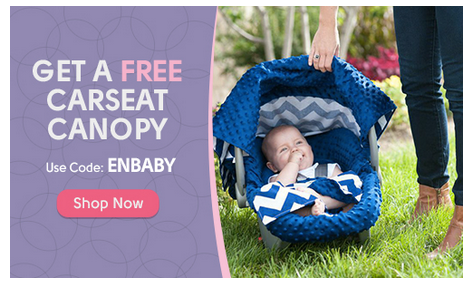 Get Free Stuff for Baby including this adorable carseat canopy!
