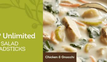 New Olive Garden Restaurant Printable Coupons: $6.99 Unlimited Soup, Salad & Breadsticks Is Back6