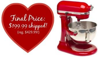 KitchenAid 5-Qt. Professional Stand Mixer w/ 3 Tools, Only $199.99!