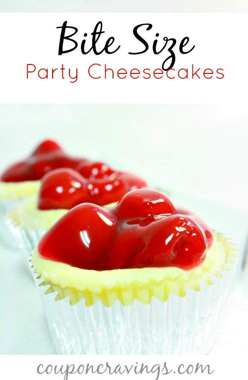 In search of cheesecake cupcakes or cheesecake bites? They don't get much better than these easy bite size desserts! With just six ingredients including cream cheese {read more} https://couponcravings.com/party-cheesecakes/