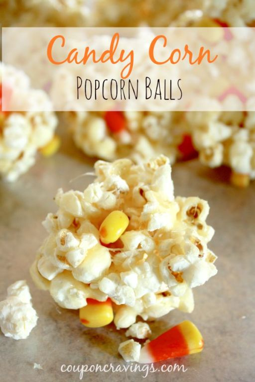 Looking for fun popcorn recipes? These popcorn treats also make a nice candy corn craft as well as the kids can mold their own popcorn balls! You'll need 7 ingredients including popcorn, candy corn, {read more} https://couponcravings.com/candy-coated-popcorn-recipe-popcorn-balls/
