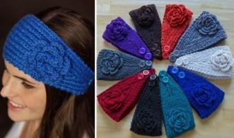 Hand-Made Crochet Ear Warmers, Only $6.99 Each