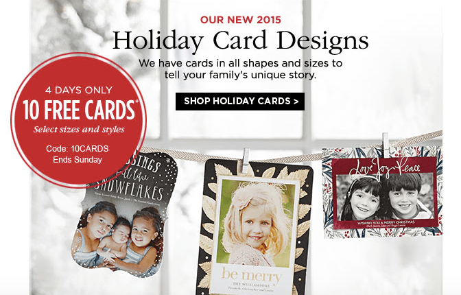 10 Free Shutterfly Holiday Cards Just Pay Shipping 100