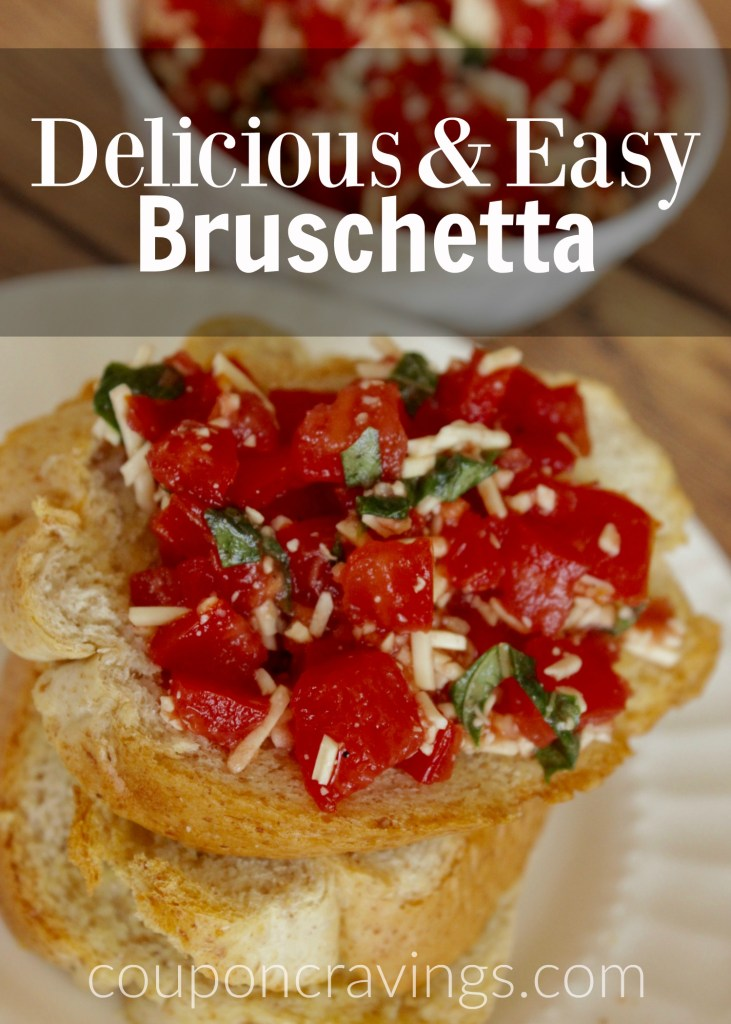 I am so glad I found the perfect bruschetta recipe! Easy appetizers don't com eas easy as this one and everyone loves it!