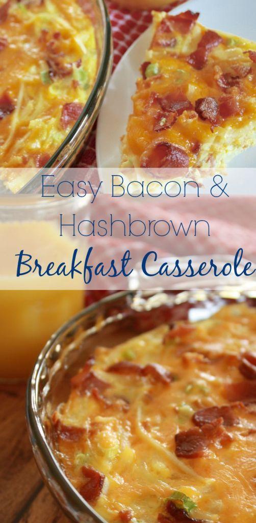 Quick breakfast casserole in a pie plate