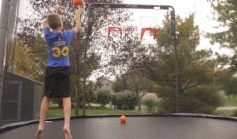 Adding the Skywalker Trampoline Double Basketball Hoop is a Huge Hit!