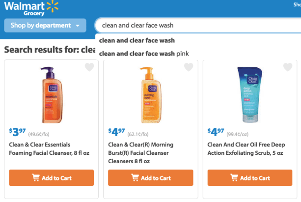 Walmart grocery options ad