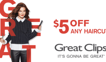 $5 Off ANY Great Clips Haircut!