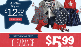 Gymboree: Kids Clothing Sale $12.99 & Under + Free Shipping!