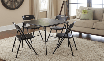 Save $35 on the Cosco Products 5-Piece Folding Table and Chair Set