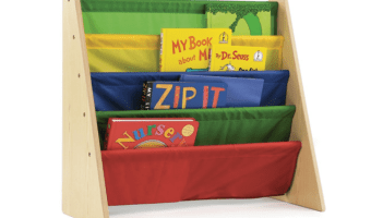 Tot Tutors Kids Book Rack Storage Bookshelf Only $16.99
