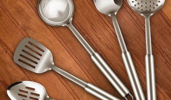 Utopia Stainless Steel 5 Pc. Cooking Spoon Set At 73% Off
