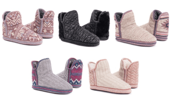 MUK LUKS Women's Cozy Slippers only $16.99 (Regularly $40!)