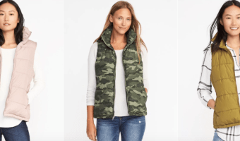 Old Navy: Frost Free Vests $14.99 Each + 50% Off Sitewide!