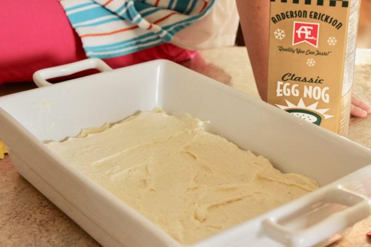 eggnog cookie dessert bars