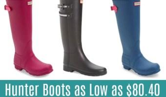 Hunter Boots Starting at $80.40!