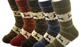 Pack of 5 Women's Thick Wool Crew Socks $7.49 (reg. $24.99)