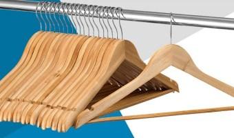 20 Pack Solid Wood Suit Hangers $15.49 (reg. $39.99)