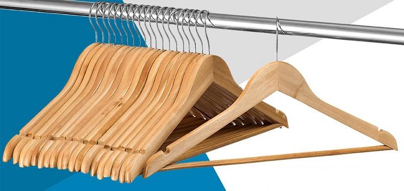 20 Pack Solid Wood Suit Hangers
