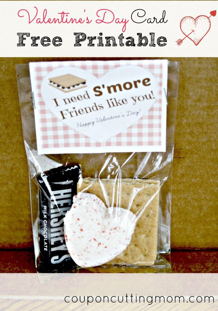 Free Valentines Day Smores Card Printable Card
