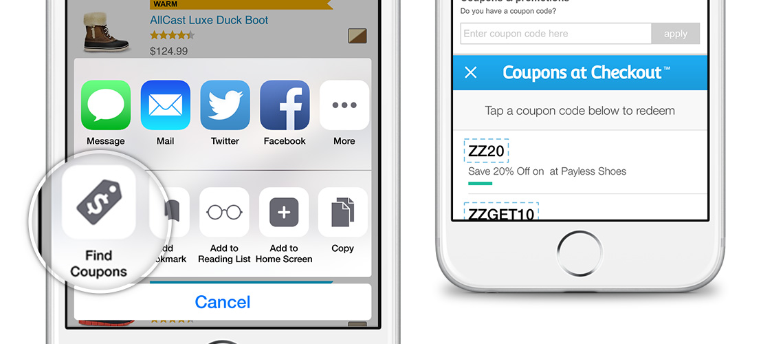 Coupons at Checkout Mobile App - Instant Coupon Finder for ... on App That Finds Promo Codes id=45263
