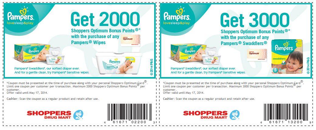 Get free pampers codes