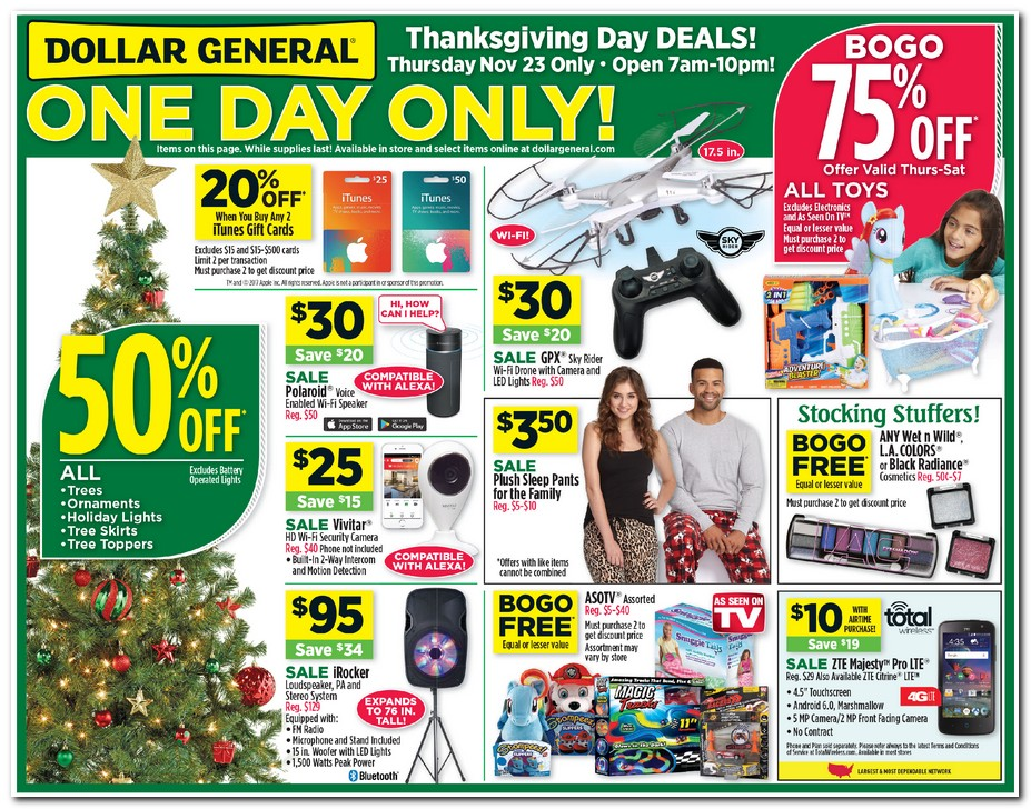 Dollar General Black Friday Ads Sales Doorbusters And