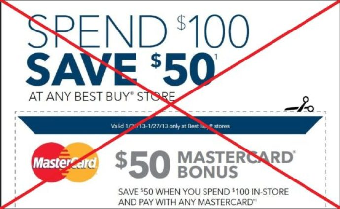 Best Buy coupon expired