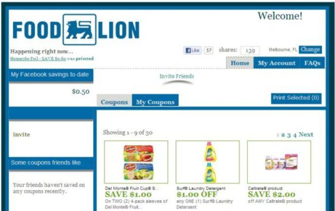 Food Lion Social Savings