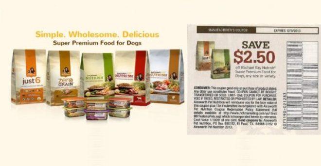 Rachael Ray Nutrish dog food coupon