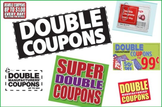 Double coupon signs