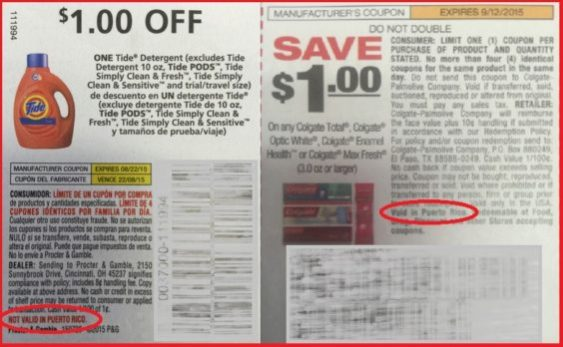 P&G-Colgate coupons