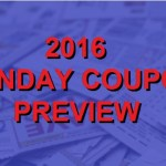 2016 Coupon Insert Schedule