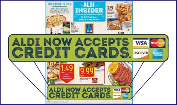 ALDI credit card ad
