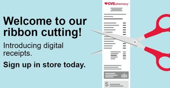 CVS digital receipts