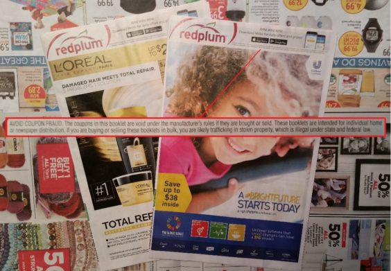 Redplum Publisher Steps Up Battle Against Coupon Sellers Coupons