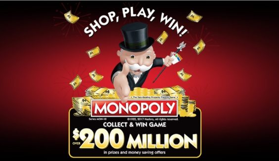 photo about Albertsons Monopoly Game Board Printable referred to as 2017 Albertsons Monopoly Discounts Much more Prizes and Far more