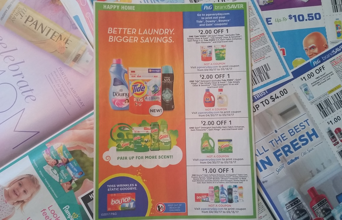 P G Makes More Tide Gain Downy Bounce Coupons Disappear Coupons In The News