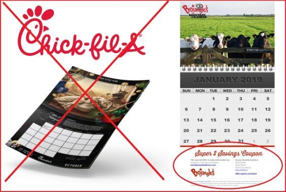 Chick Fil A Calendar.Chicken Chains In Coupon Calendar Competition Coupons In The News