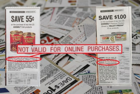 CAN CARTWHEEL COUPONS BE USED ONLINE