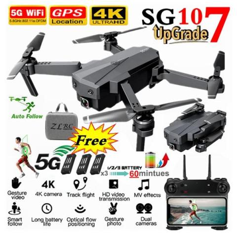 64 off gps 5g 4k camera rc drone 3 batteries