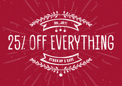 25 off everything at peoples