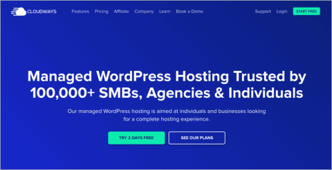 100 off get a free month of managed wordpress hosting