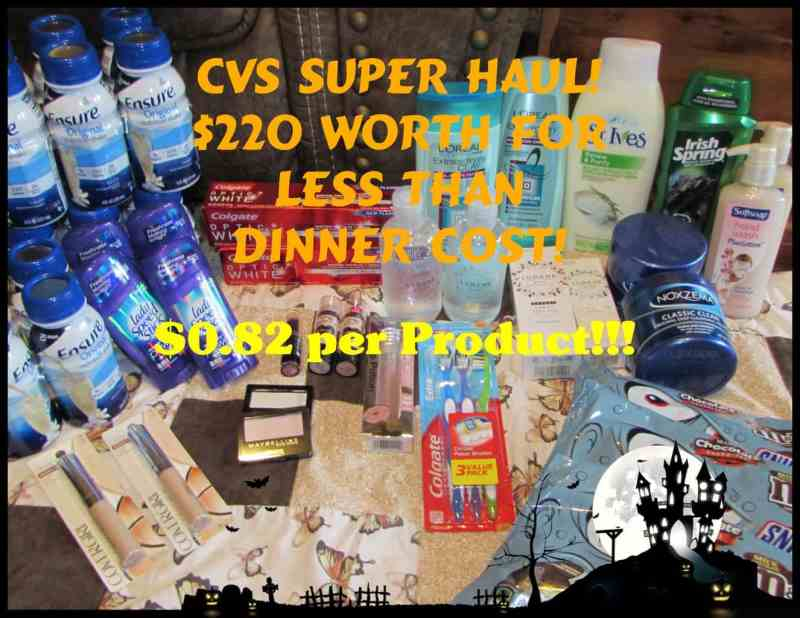 CVS Week of 10/15/17 Super Coupon Haul! Almost $220 Worth for Only $0.82 Per Product!