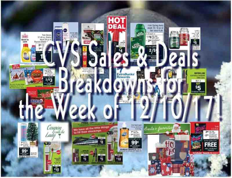 CVS Sales and Deal Breakdowns for the Week of 12/10/17 with a FABULOUS FREEBIE!