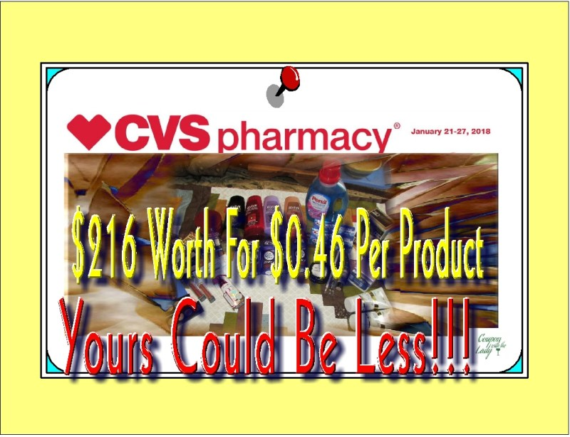CVS Coupon Haul for the Week of 1/21/18! $216 Worth for Only $0.46 Per Product!
